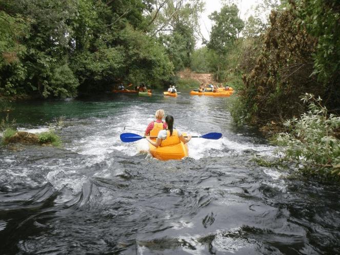Canoeing on the Trebizat river