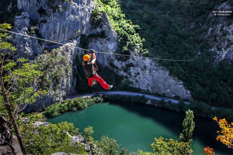 Three hour zipline over Cetina canyon for adventurers